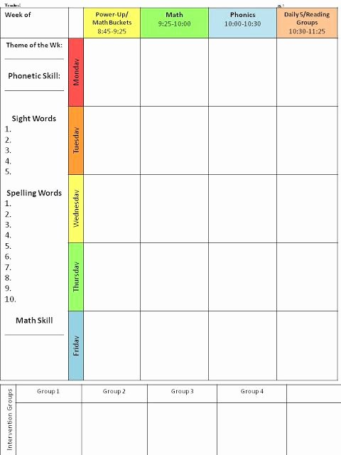 Free Weekly Lesson Plan Template Elegant for the Love Of First Grade Back to School Lesson Plan