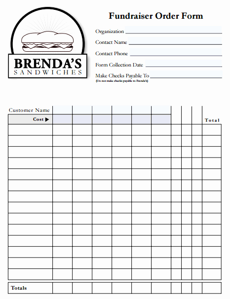 Fundraiser order form Template Luxury 6 Fundraiser order form Templates Website Wordpress Blog