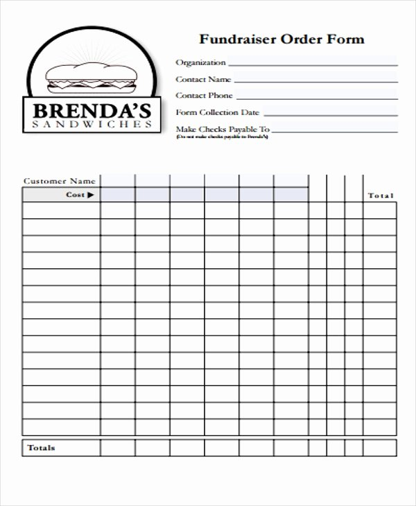 Fundraiser order form Template New 32 Sample order forms