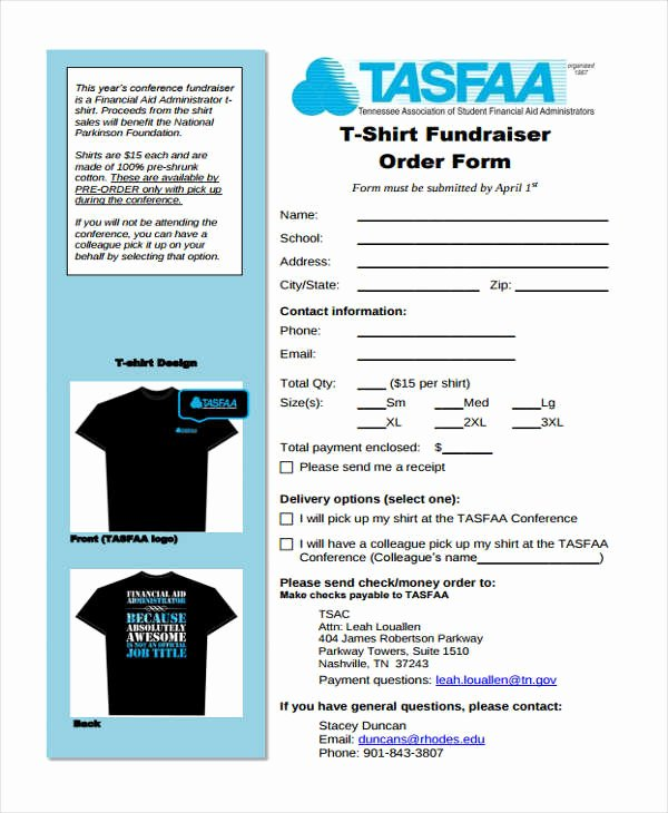 Fundraiser order form Template Unique 8 Fundraiser order forms Free Sample Example format
