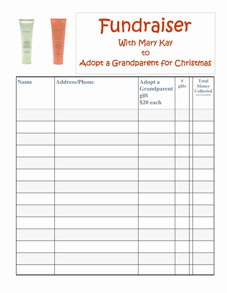 Fundraising order form Template Beautiful Mary Kay Satin Hands Fundraiser