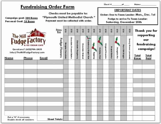 Fundraising order form Template Fresh Fundraiser order Templates Word Excel Samples