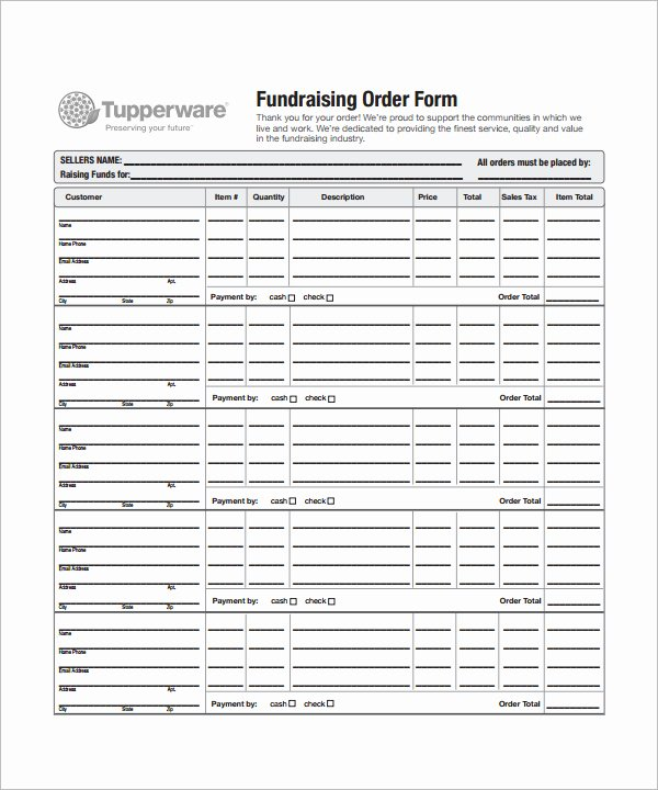 Fundraising order form Templates Beautiful Fundraiser order form Template