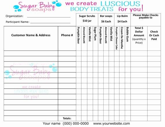 Fundraising order form Templates Elegant Customized Fundraiser order formdigital File Onlycustomize