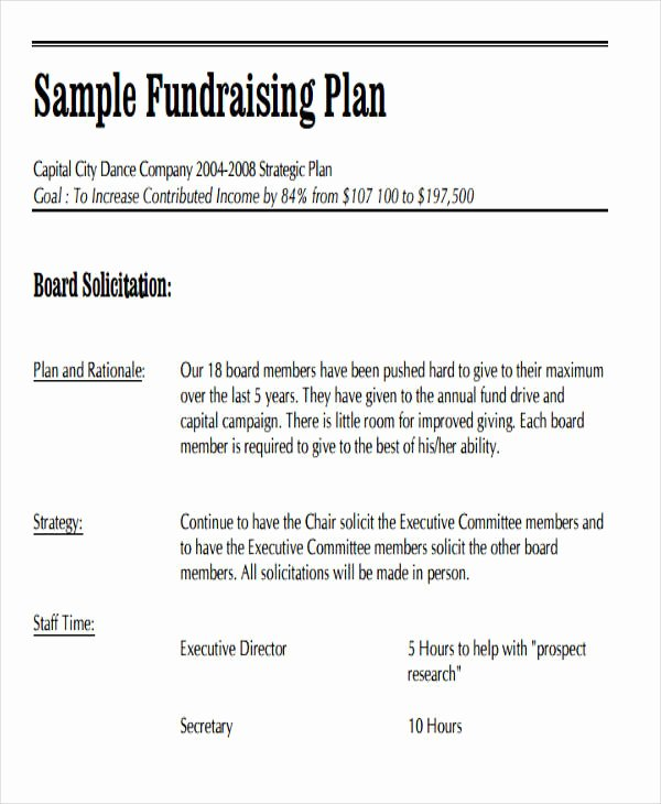 Fundraising Plan Template Free Awesome 19 event Plan Templates In Pdf