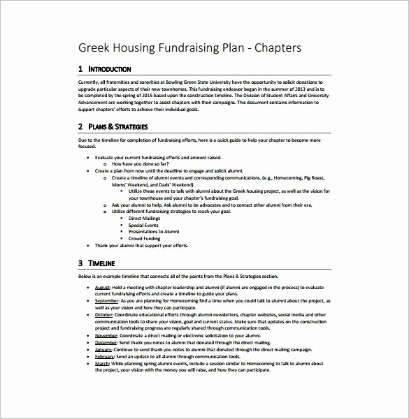 Fundraising Plan Template Free Fresh Fundraising Plan Template 11 Free Word Pdf Documents
