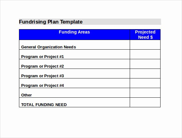 Fundraising Plan Template Free Inspirational Sample Fundraising Plan 11 Documents In Word Pdf
