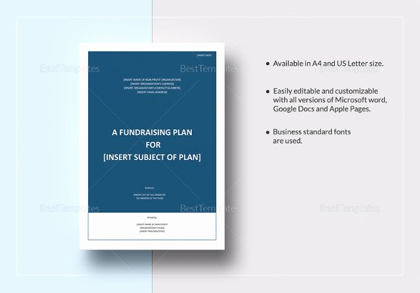 Fundraising Plan Template Free Luxury 16 Fundraising Plan Templates Free Sample Example