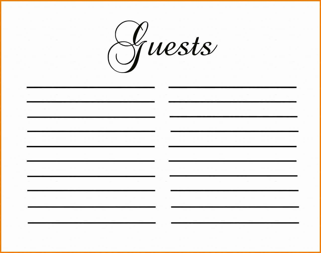 Funeral Guest Book Template Beautiful Guest Book Template