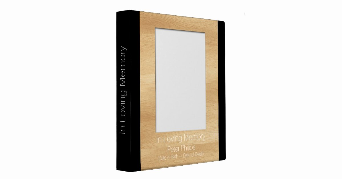 Funeral Guest Book Template Beautiful Wood Frame Template Funeral Guest Book Add Image Binder