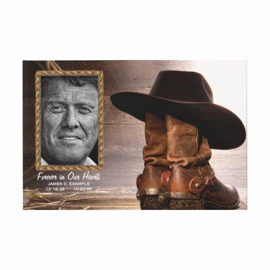 Funeral Guest Book Template Elegant Cowboy Funeral Memorial Guest Book