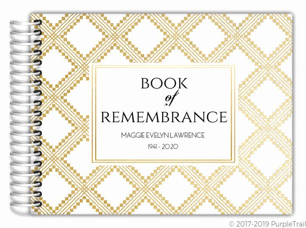 Funeral Guest Book Template Fresh Art Deco Pattern Funeral Guest Book