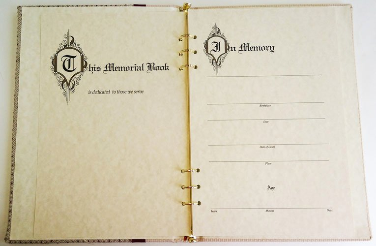Funeral Guest Book Template Fresh Dakota Memorial Guest Book Funeral Register Book with A