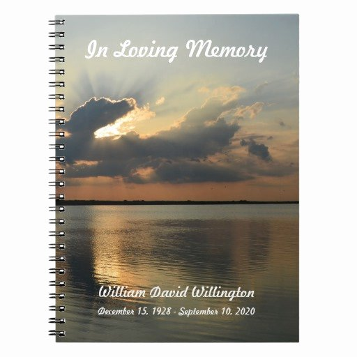 Funeral Guest Book Template Fresh Memorial or Funeral Guest Book Notebook