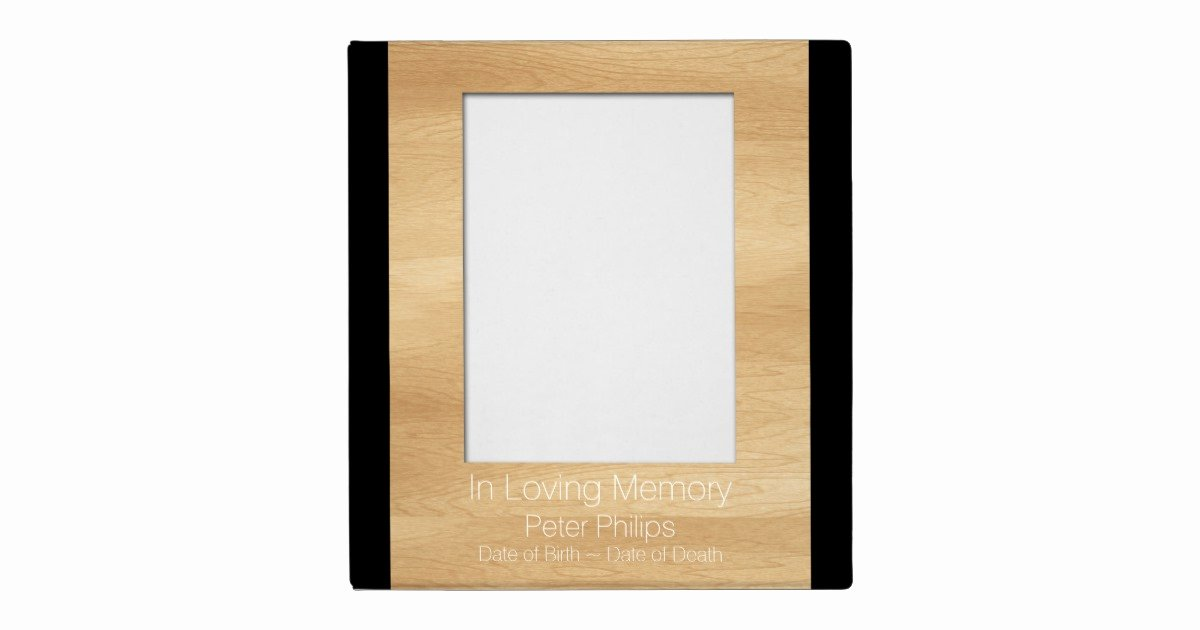 Funeral Guest Book Template Inspirational Wood Frame Template Funeral Guest Book Add Image Binder