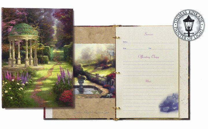 Funeral Guest Book Template Luxury Guest Book Ideas Thomas Kinkade Garden Of Prayer
