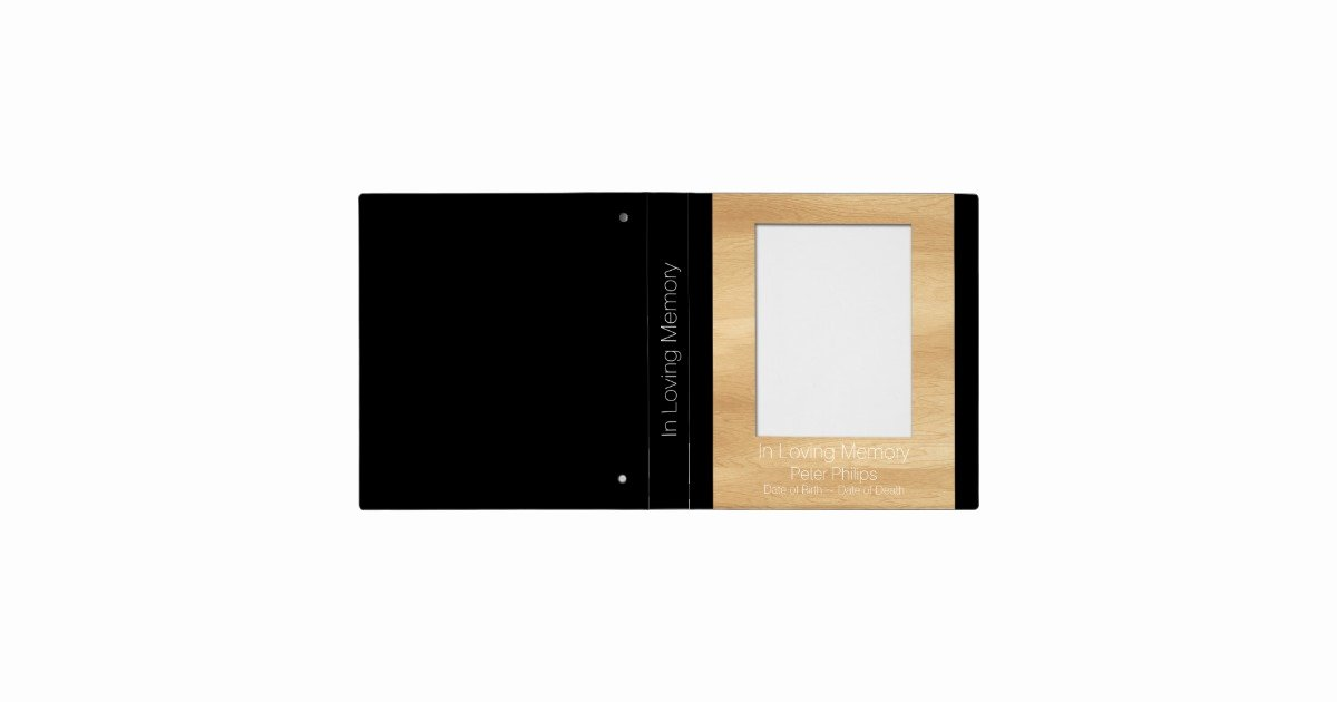 Funeral Guest Book Template New Wood Frame Template Funeral Guest Book Add Image Binder
