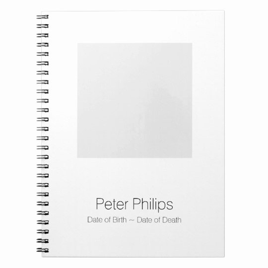 Funeral Guest Book Template Unique W Template Funeral Guest Book Add Favourite Photo