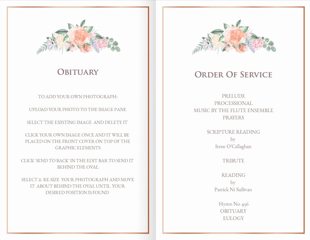 Funeral Mass Program Templates Elegant Printable Funeral Mass Program Template with Vintage