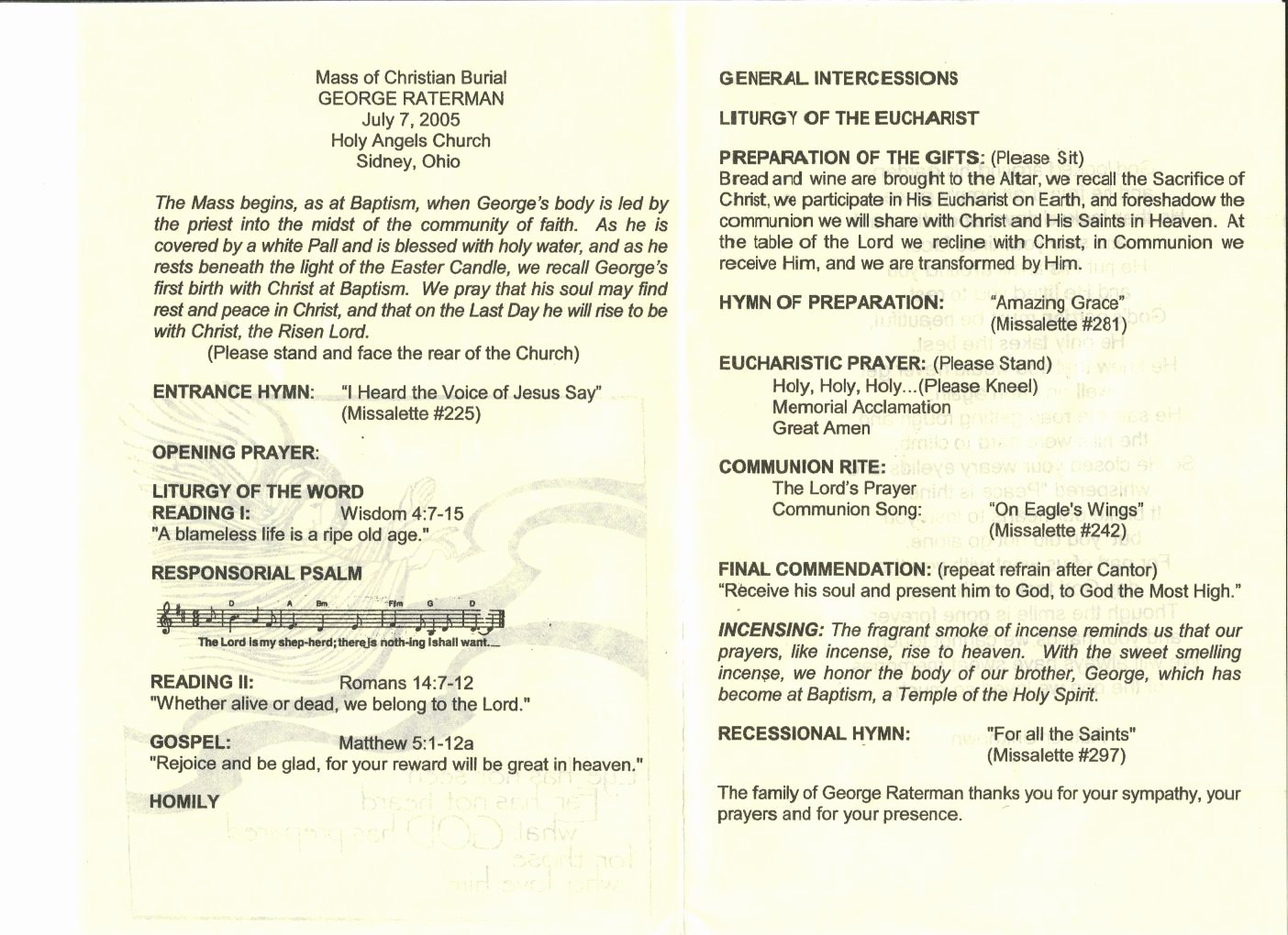 Funeral Mass Program Templates Fresh 27 Of Catholic Funeral Mass Program Template