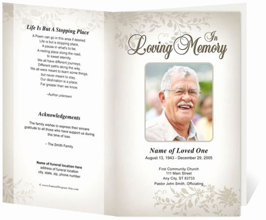 Funeral Mass Program Templates Inspirational Free Funeral Program Sample 7941 Funeral