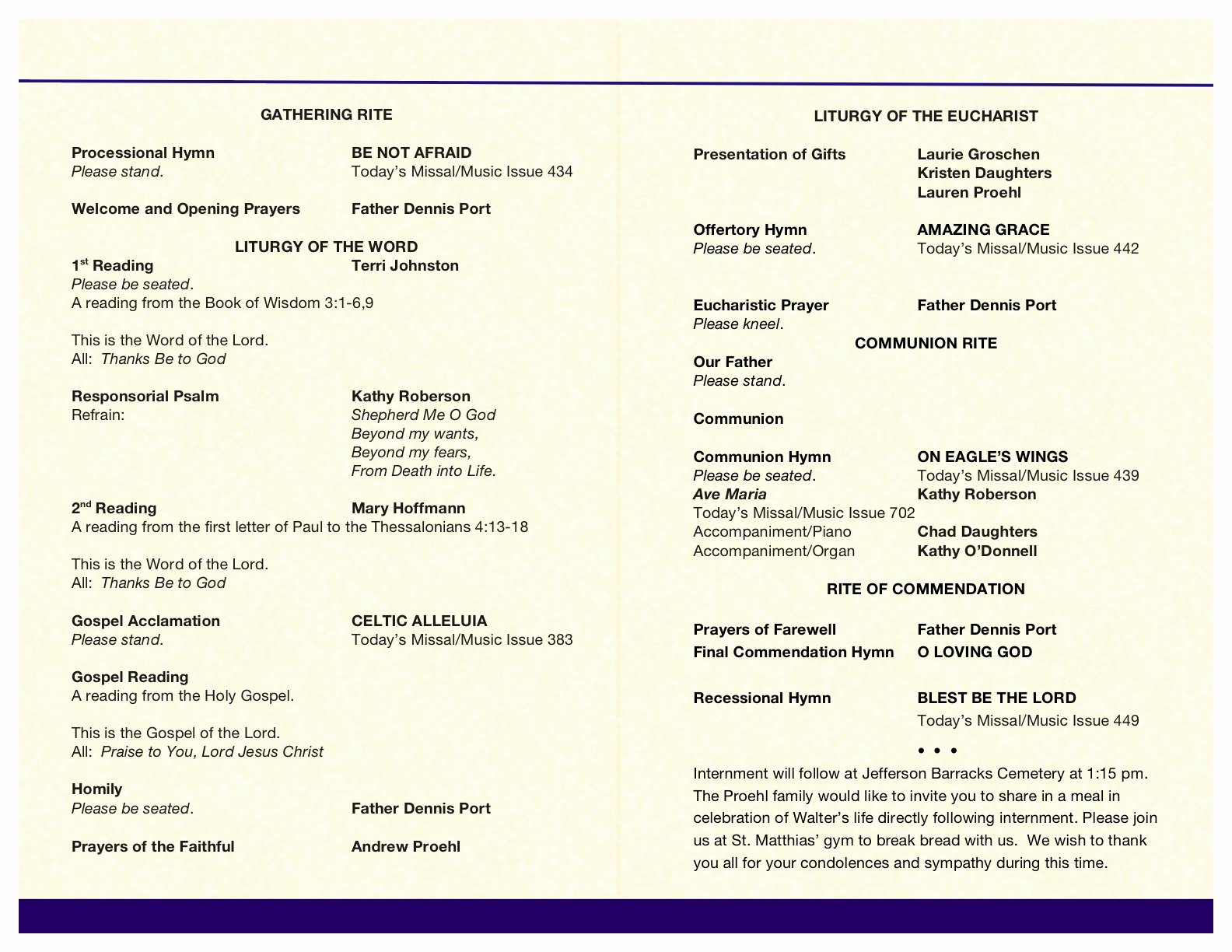 Funeral Mass Program Templates Lovely Catholic Wedding Program Templates with Mass Catholic