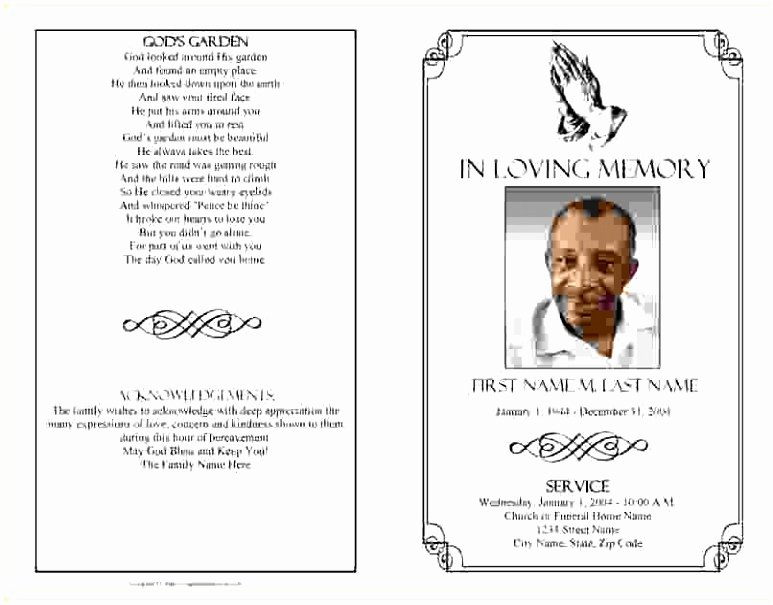 Funeral Mass Program Templates Luxury 5 Funeral order Service Template Publisher Yoeut