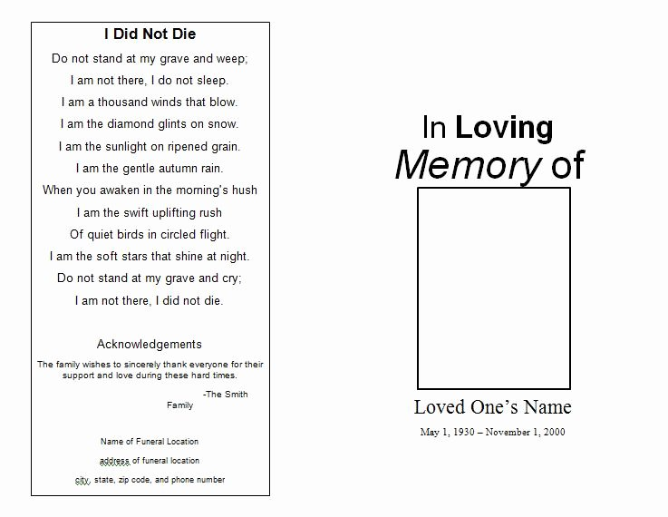 Funeral Mass Program Templates New the Funeral Memorial Program Blog Free Funeral Program