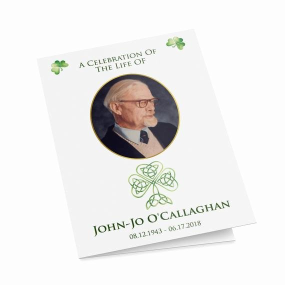 Funeral Mass Program Templates Unique Irish Catholic Funeral Mass Program Template with