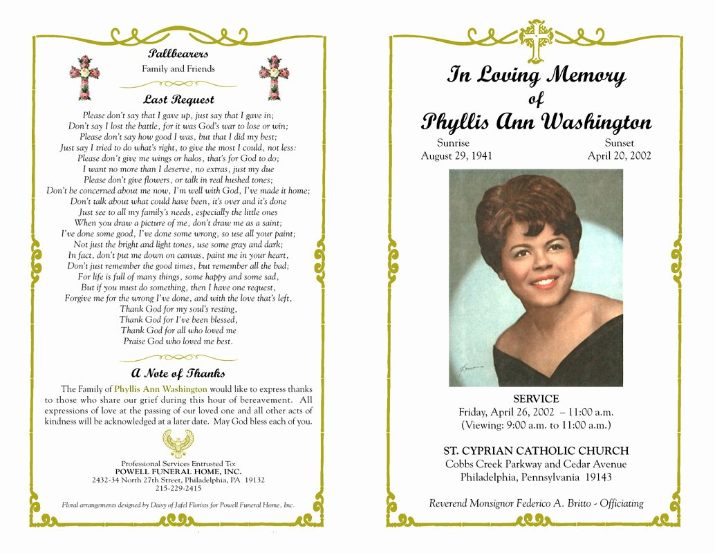 Funeral Mass Program Templates Unique Quotes In Spanish Funeral Program Quotesgram