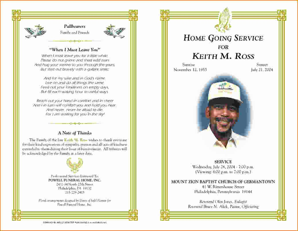 Funeral Program Template Free Best Of 5 Free Funeral Program Template for Word