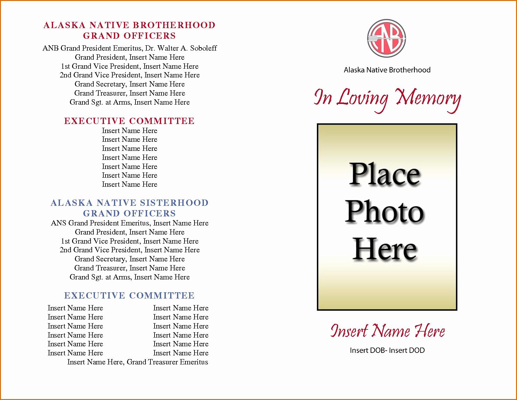 Funeral Program Template Free Elegant 8 Free Funeral Program Template Microsoft Word