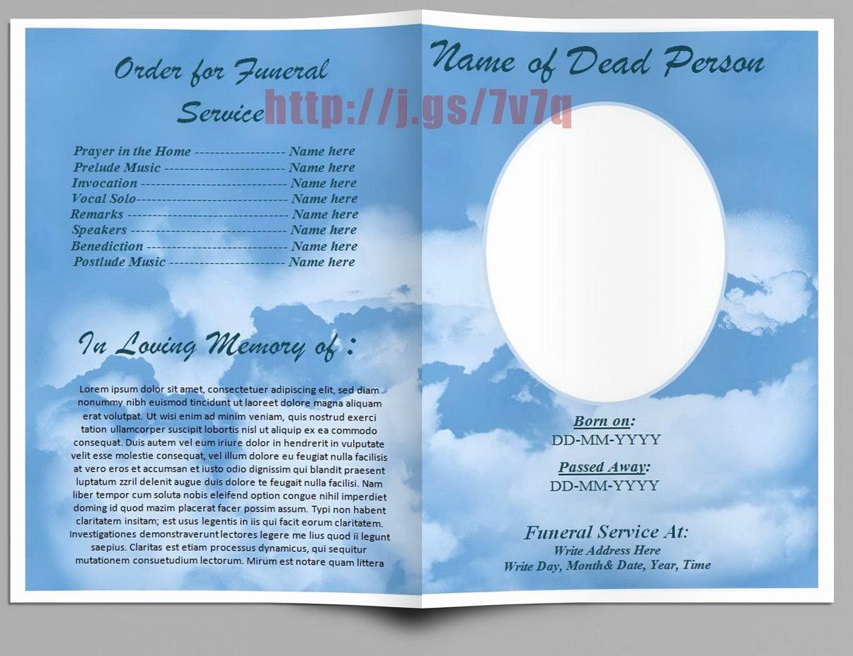Funeral Program Template Free Elegant Pin On Funeral Program Templates for Ms Word to Download