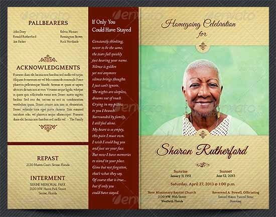 Funeral Program Template Free Inspirational Sample Funeral Program Template 30 Download Free
