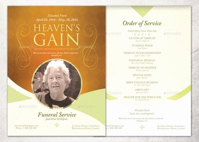 Funeral Program Template Free Luxury 21 Free Free Funeral Program Template Word Excel formats