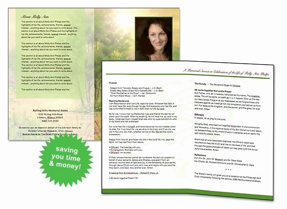 Funeral Program Template Free Luxury Free Funeral Program Template