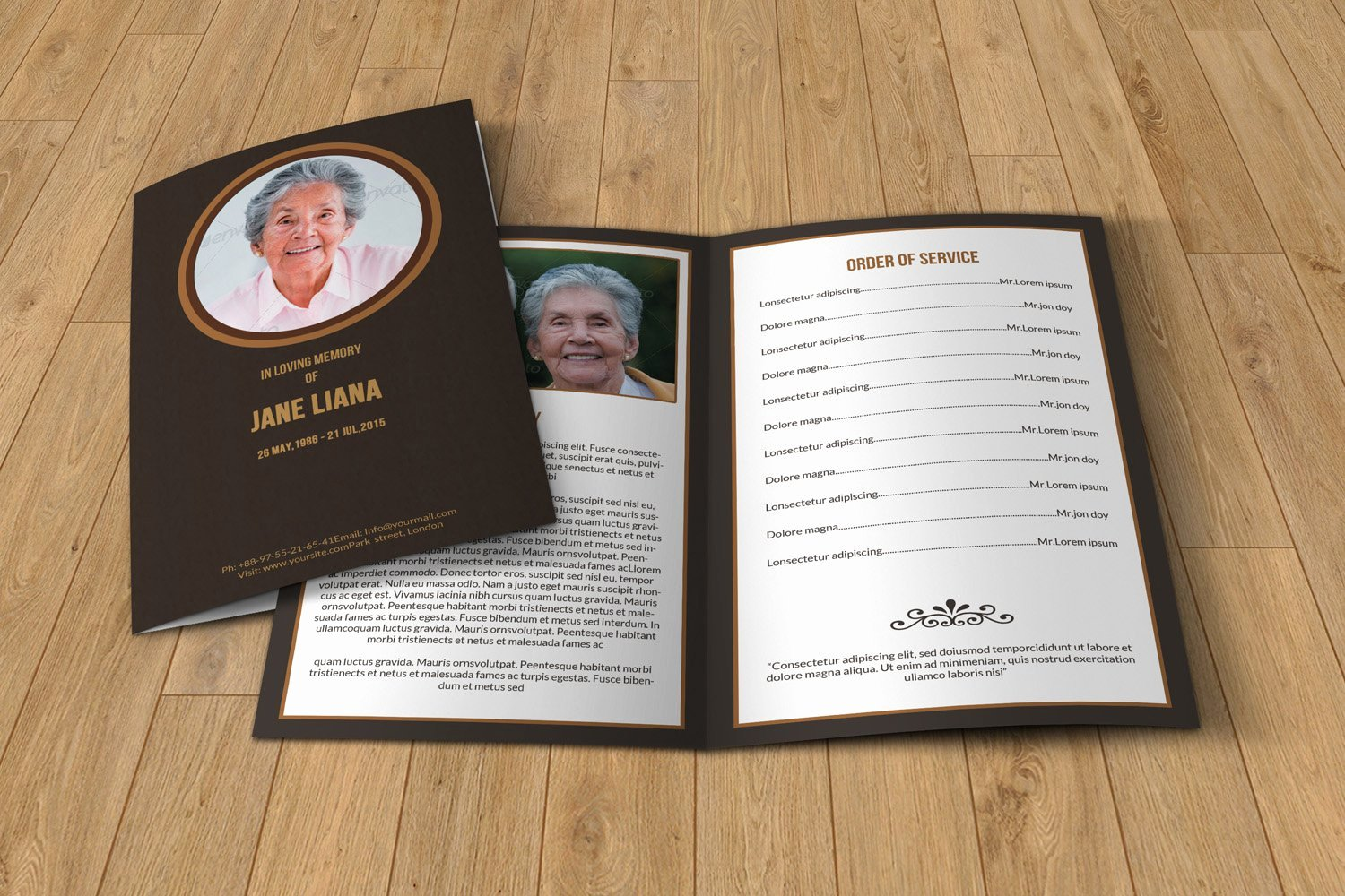 Funeral Program Template Free Luxury Funeral Program Template T130 Brochure Templates