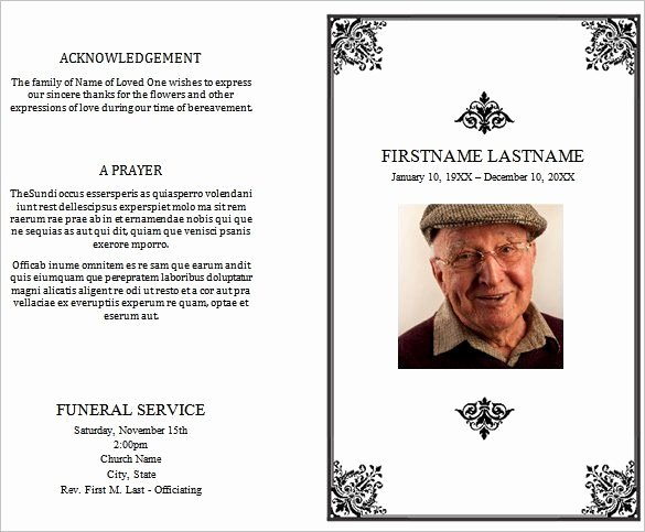 Funeral Program Template Free New 31 Funeral Program Templates Free Word Pdf Psd