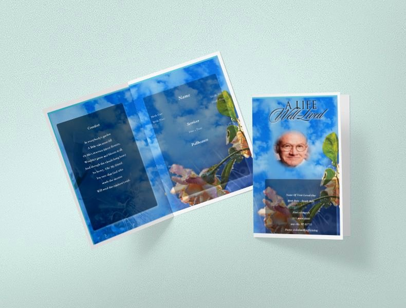 Funeral Program Template Free New 75 Free Funeral Program Template