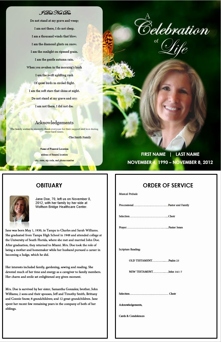 Funeral Program Template Free New the Funeral Memorial Program Blog Free Funeral Program