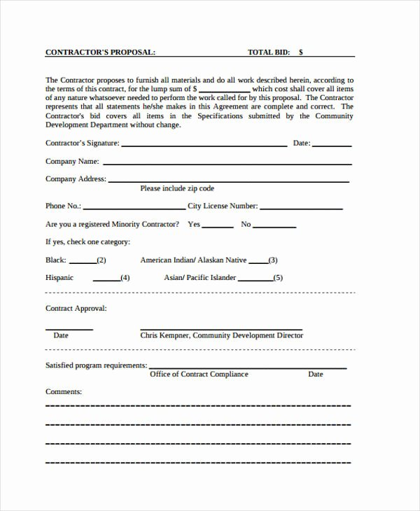 General Contractor Proposal Template Beautiful 46 Sample Proposal Templates Word Pdf Pages