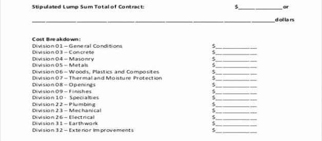 General Contractor Proposal Template Elegant Plumbing Bid Proposal Template