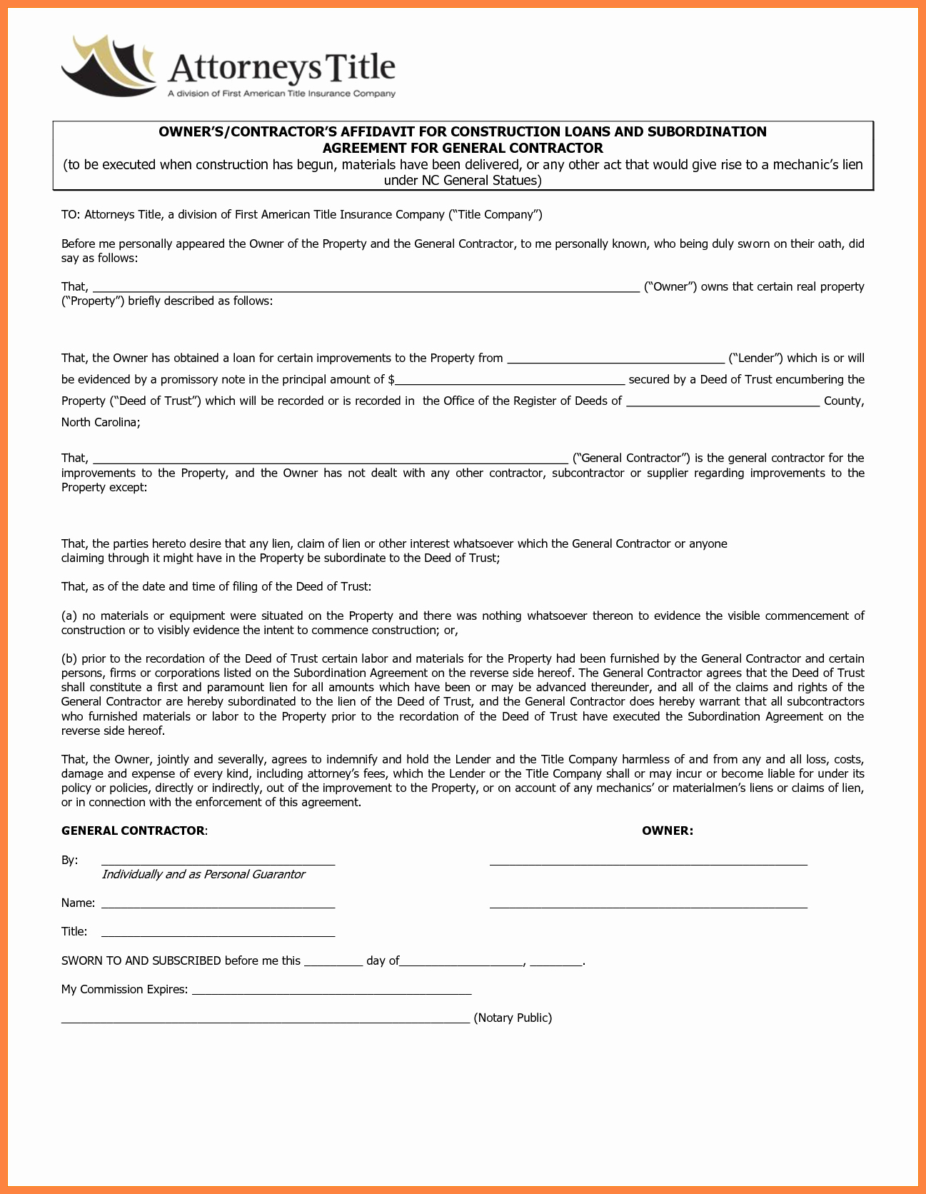 General Contractor Proposal Template Inspirational 7 Contractor Contract Template