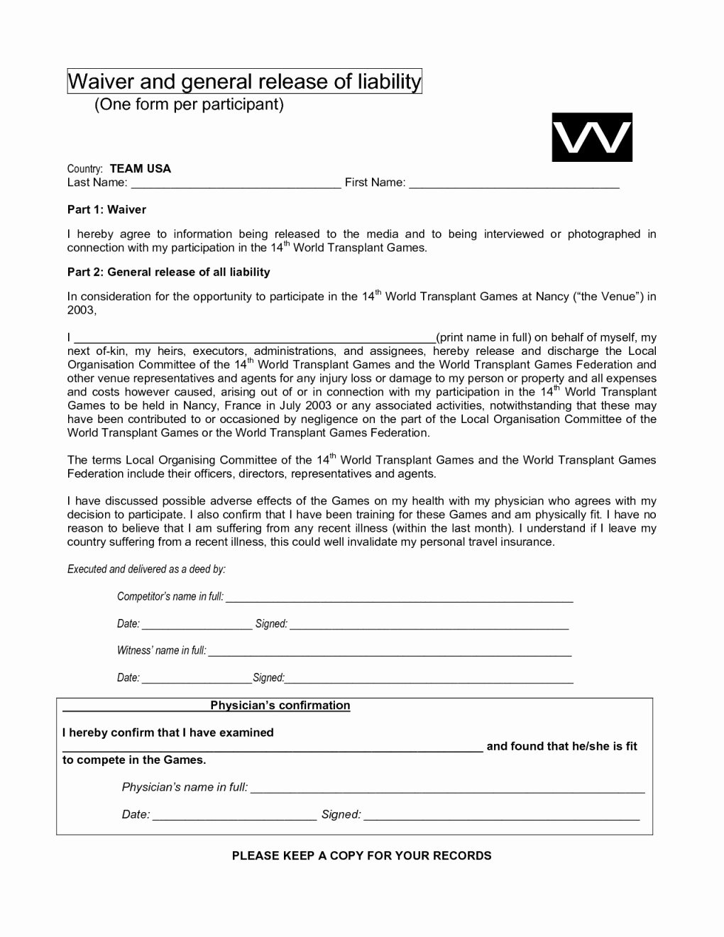 General Release form Template Beautiful General Liability Release form Image – General Liability