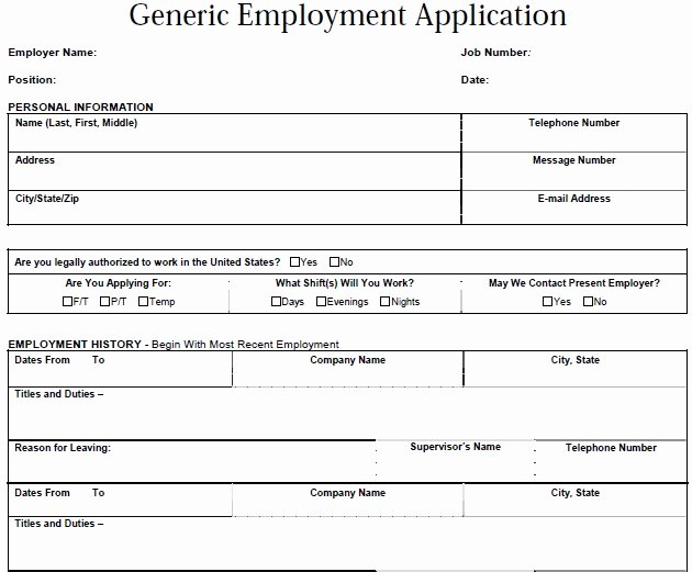 Generic Job Application Template Luxury Job Application Letter Example