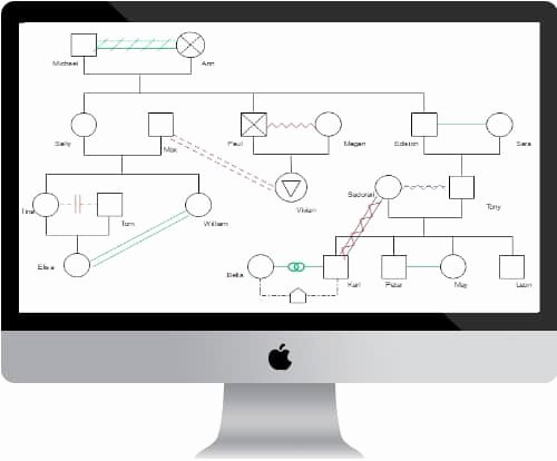 Genogram Template for Mac Elegant top 5 Genogram Makers for Mac