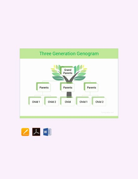 Genogram Template for Mac Inspirational 36 Genogram Templates Pdf Word Apple Pages Google