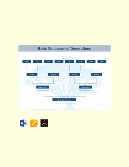 Genogram Template for Mac New 36 Genogram Templates Pdf Word Apple Pages Google