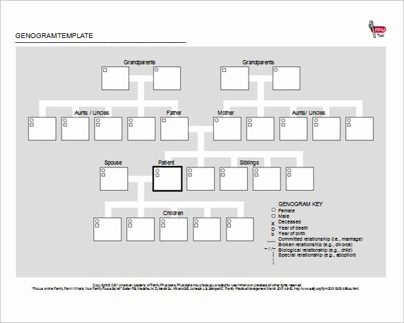 Genogram Template for Macs Awesome 36 Genogram Templates Pdf Word Apple Pages Google