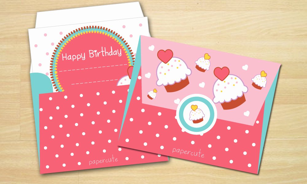 Gift Card Envelope Template Elegant Envelope Sweet Cupcake Card Templates On Creative Market